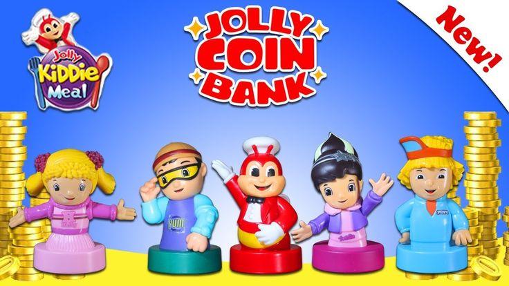 JOLLY COIN BANK - Jolly Kiddie Meal -  Jollibee And Jollitown Friends - ...