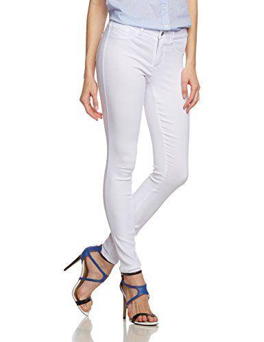 PIECES Damen Skinny Hose Pcjust Wear R.m.w. Legging/bwhi, Gr. 40 (Herstellergröße: L/XL), Weiß (Bright White)