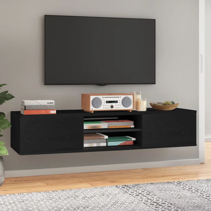 Agora Floating Mount Tv Stand For Tvs Up To 65 Allmodern