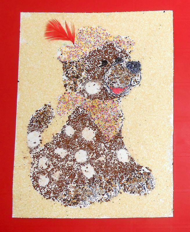 dessin parfum au caf mini bonbons et menthe coloriage collage faon sable color - Dessin Sable Color