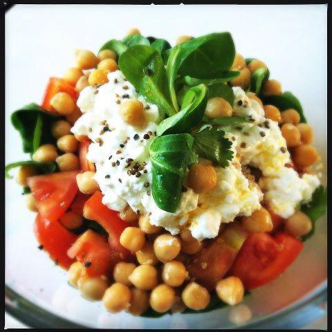 Salade kikkererwten