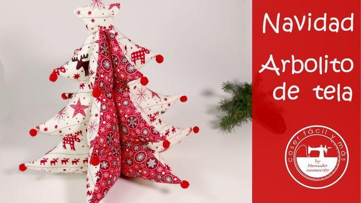 Adornos de Navidad: un árbol de tela (patrones gratis) - YouTube