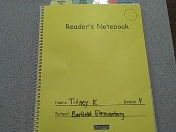 reader's notebook: sounds like an excellent tool that I will definitely implement