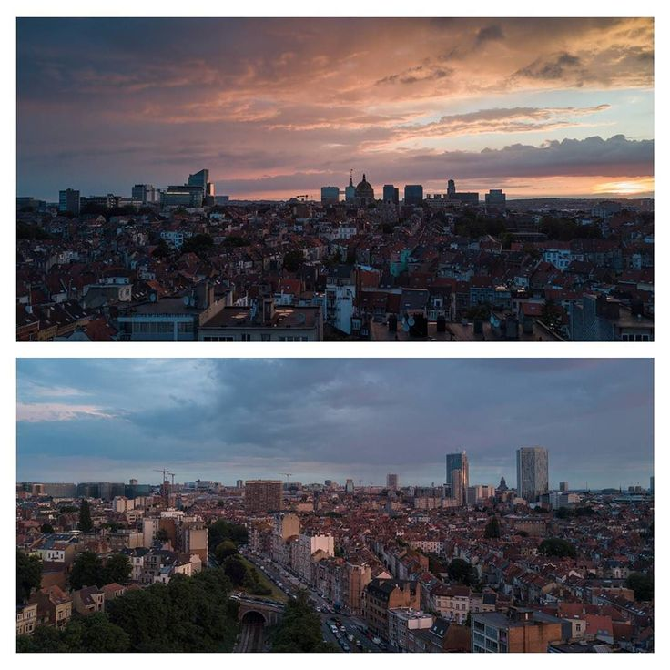 Another quick look on a quiet Brussels before going to bed #sunset #brussels #belgium #view #landscape #city #drone #photography @djiglobal #dji #mavicpro #mavic #djimavicpro #europe #schaerbeek