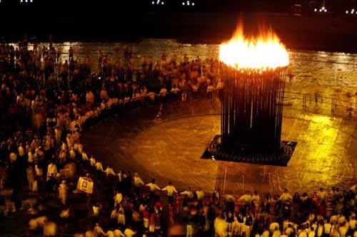 London 2012 Summer Olympics - Opening Ceremony - Olympic flame cauldron