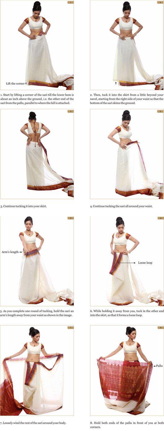 The Whole 9 Yards -how to drape a sari