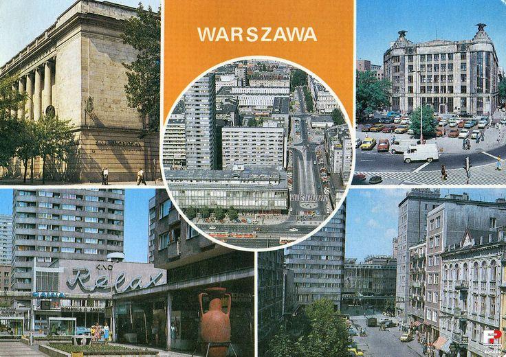 Widokówki z Warszawy, Warszawa - 1975 rok, stare zdjęcia