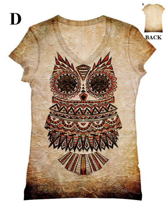 woman  PLUS SIZE Owl allover print top t shirt and by hellominky, $33.95
