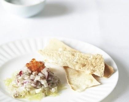Sean Moran's mahi-mahi tartare with finger limes