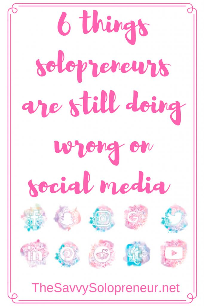 Today we're highlighting some of the social media mistakes bloggers, marketers and other solopreneurs are still making, and looking at how to fix them.