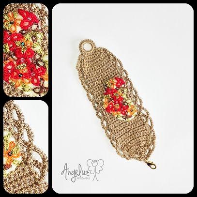 Manillas tejidas en crochet y pedreria. $45.000 angeluzartesanias@gmail.com