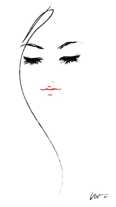 fashion illustration - I love the simplicity of the lines.