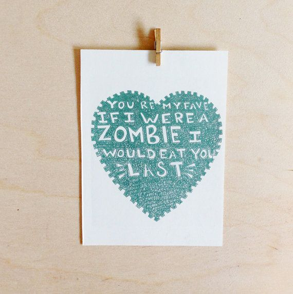 Zombie anniversary card funny by