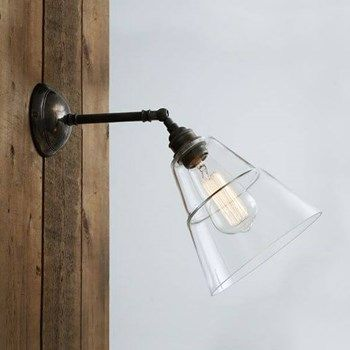 Thea Vintage Industrial Glass Wall Light