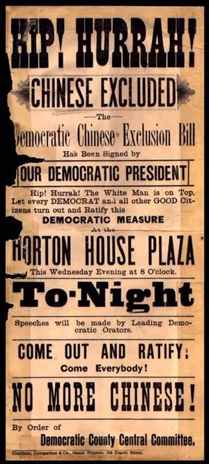 Chinese Exclusion Act - Enacted between 1882 and 1924, the Chinese Exclusion Laws severely restricted the immigration, naturalization, and land ownership (among other things) of people of Chinese descent. The Chinese are the only racial group ever specifically banned from the United States.