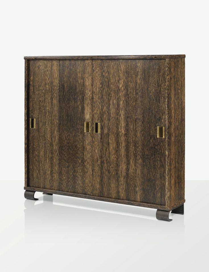 Eug ne printz meuble biblioth que vers 1935 a palmwood for Meuble bibliotheque profondeur 20 cm