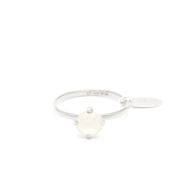 Sterling Silver ring with white Swarovski Crystal | Wouters & Hendrix