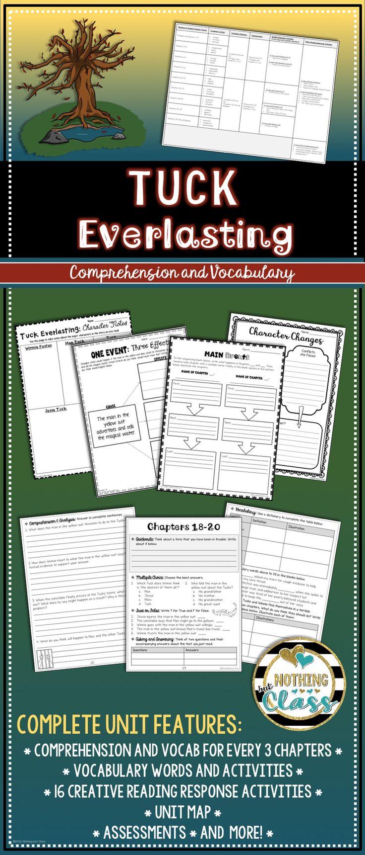https://www.teacherspayteachers.com/Product/Tuck-Everlasting-Novel-Study-Unit-comprehension-vocabulary-activities-tests-2884569
