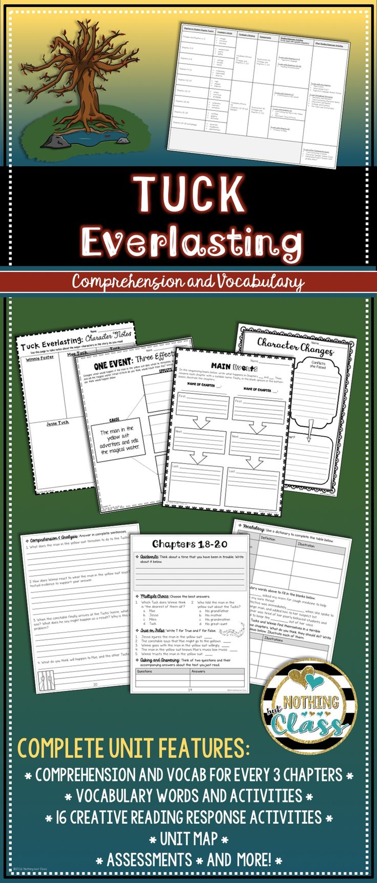 https://www.teacherspayteachers.com/Product/Tuck-Everlasting-Novel-Study-Unit-comprehension-vocabulary-activities-tests-2884569