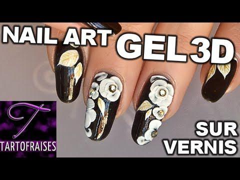 Vidéo nail art fleurs sakura en gel 3D   Tartofraises