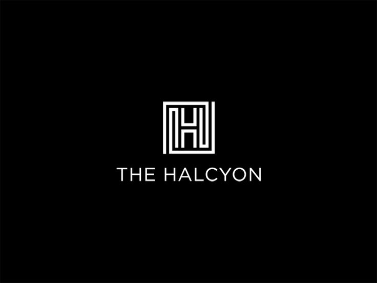 love this: The Halcyon hotel logo via Mytton Williams.