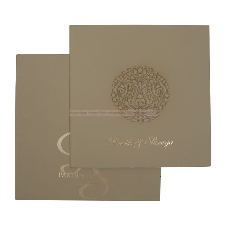 muslim wedding invitations mumbai%0A Light Kakhi Green Colour Tri fold card with Laser cut l design in the  centre made out of Matt finish board having   inserts in cream and an  Envelope of the