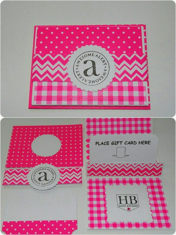 Neon pink gift card holder. Email me prettypapers99@gmail.com to order.