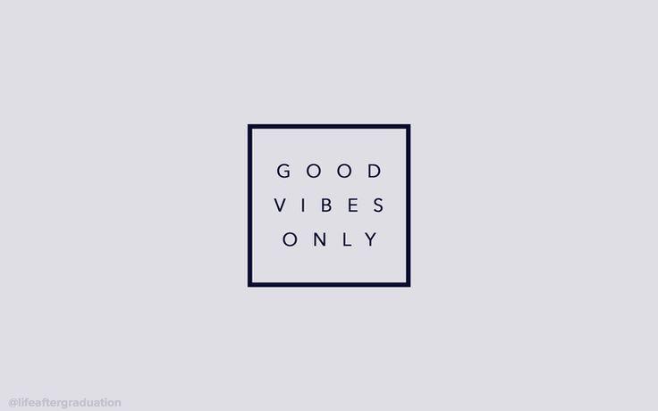 good vibes only (grey) desktop wallpaper                              …
