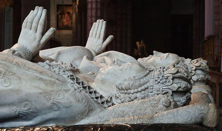 Henri II and Catherine de Medicis tomb effigies at the Basilica of St. Denis.
