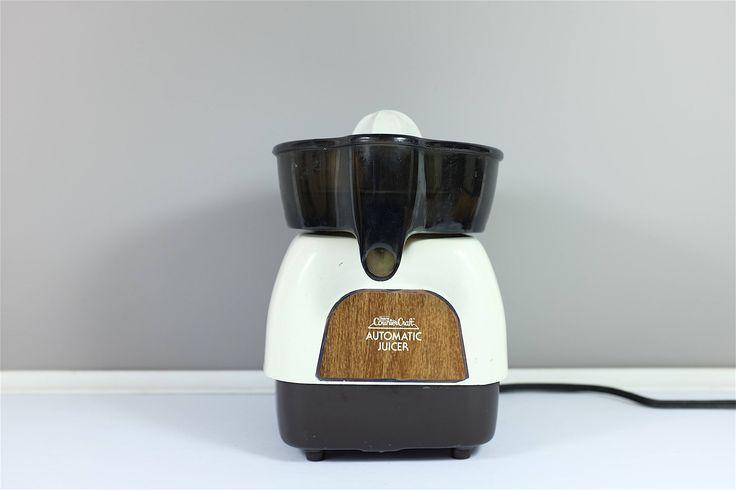 Presse agrume vintage électrique de Sears: Counter Craft Automatic Juicer modèle 360-834800 - Presse agrume automatique rétro motif bois by Decadisme on Etsy