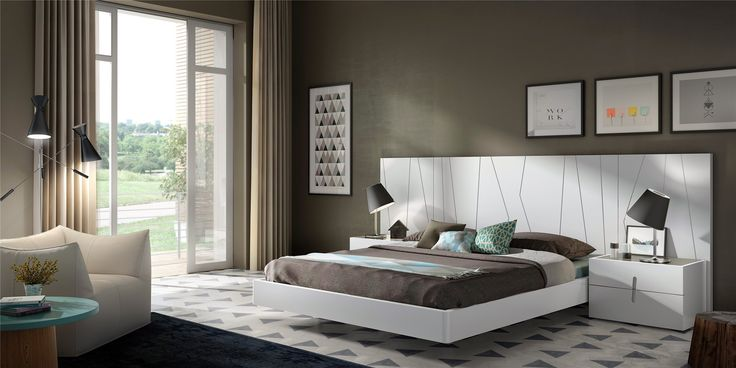 Guardia - DORMIO Modern Bed in Matt or High Gloss Lacquer - Head2Bed UK