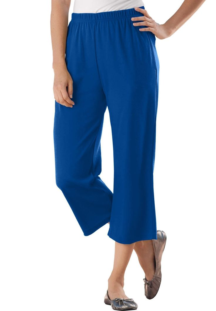 7-day Knit Capris - Women's Plus Size Clothing