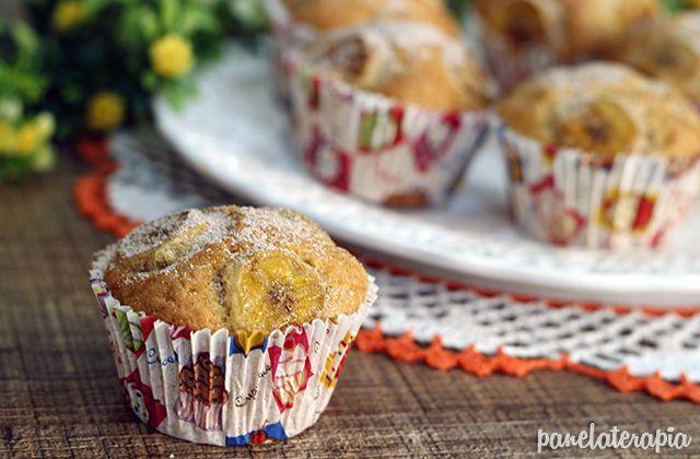 PANELATERAPIA - Blog de Culinária, Gastronomia e Receitas: Muffins de Banana e Canela