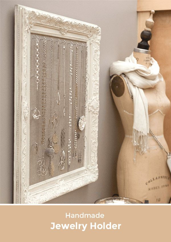 Diversified ideas for you to do a homemade diy jewelry holder and organize your accessories.