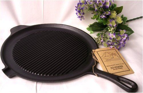 Old Mountain Cast Iron Preseasoned Round GriddleGrill Pan *** Click on the image for additional details.