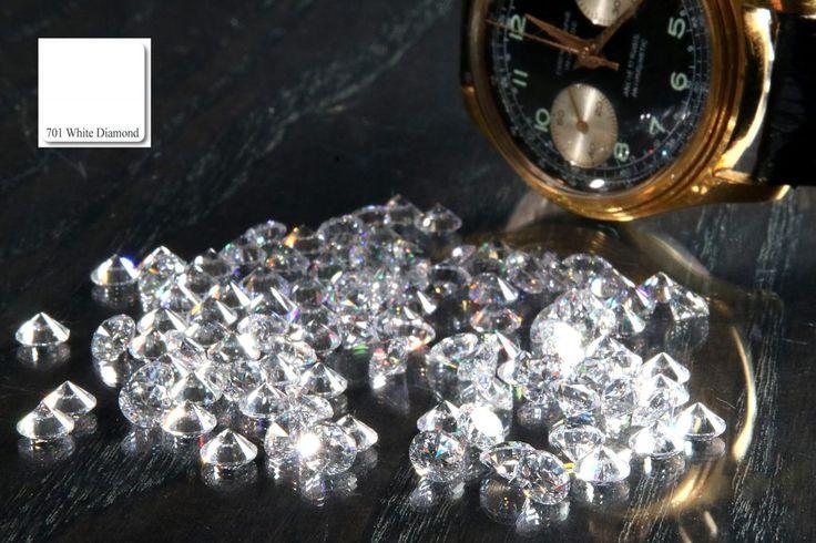 Farbton No. 701 der apprico Colours: White Diamond (Element Metall)  #appricoColours #fengshui