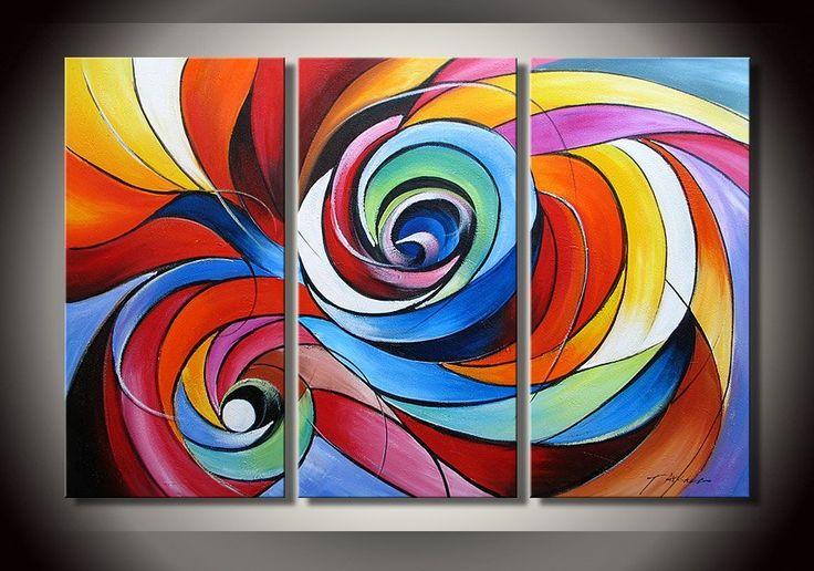 Modern abstracte kunst met olieverf geschilderd.