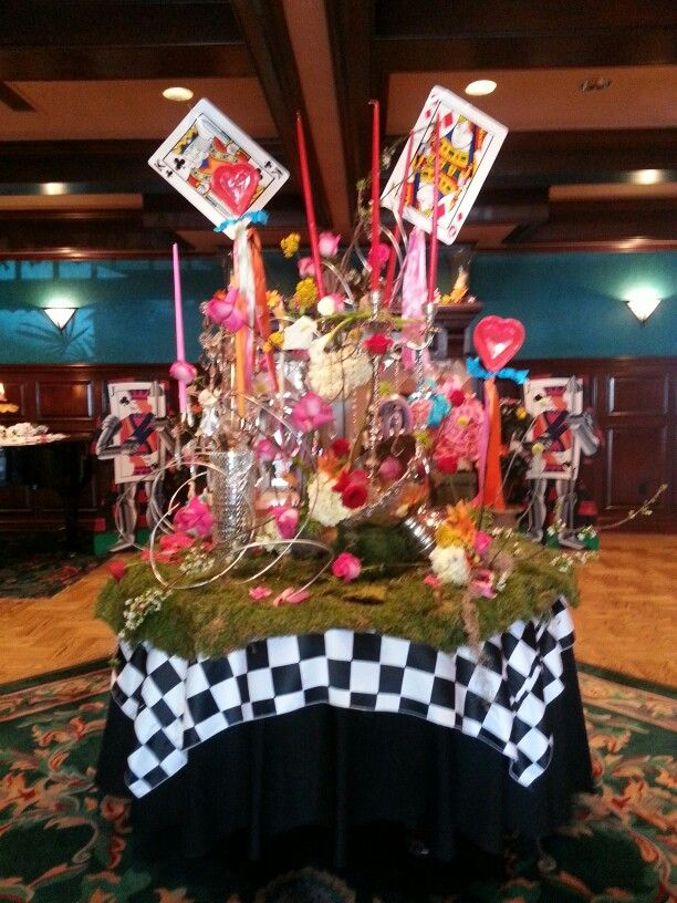 Alice in Wonderland Prom Welcome Table