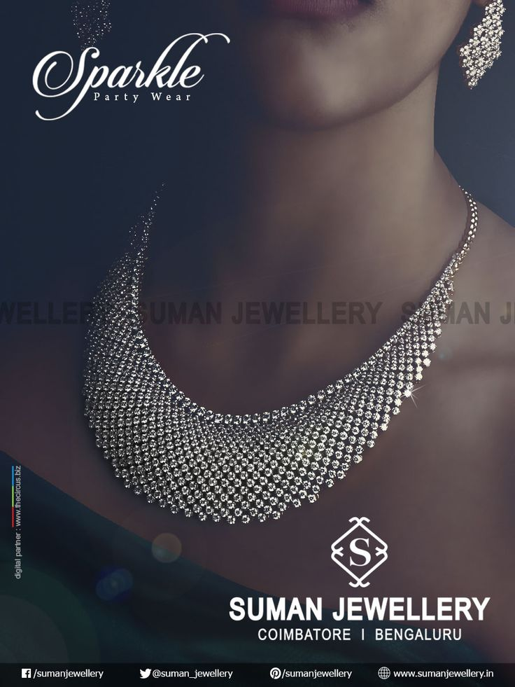 Party wear collections which sparkles your evening with Suman jewellery.  #suman_jewellery #diamond #party #wear