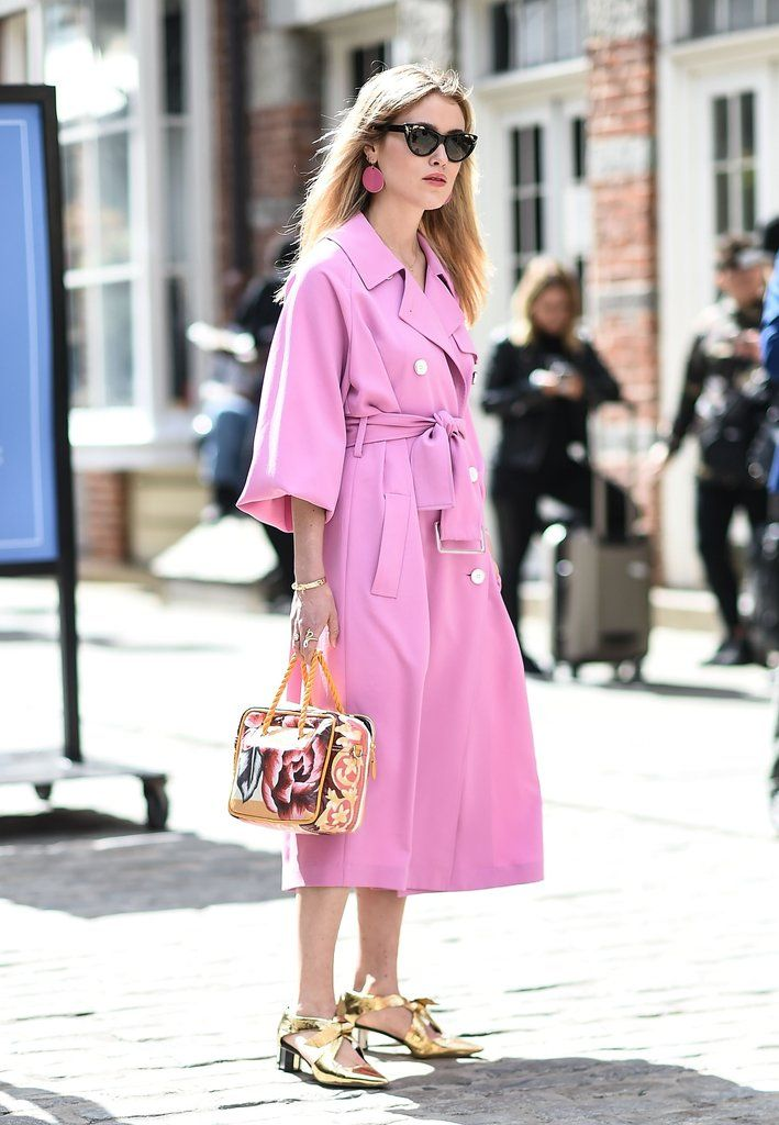 Pink fashion week outfit