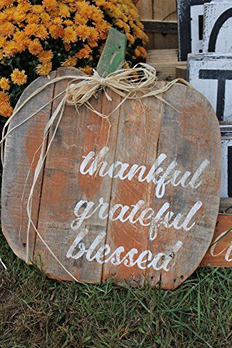 Pumpkin Quote Reclaimed Wood Pallet Sign Home Decor 16x18