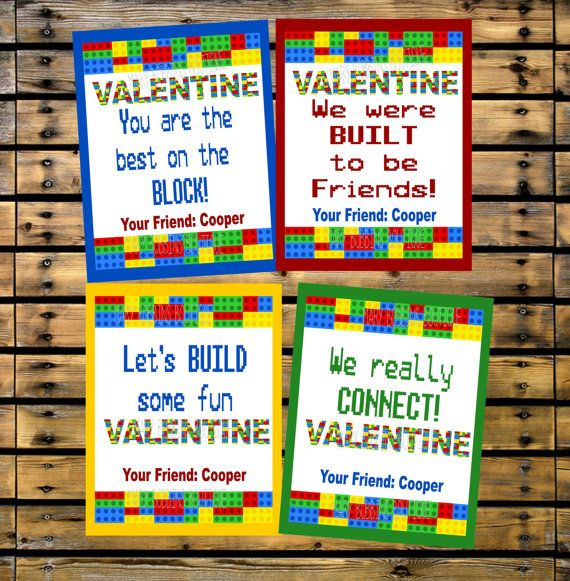 Personalized Lego Valentines DIY Printables by MaryBobbinsBoutique,   This includes a Word file so you can just edit on your own and print at home!! How awesome<3