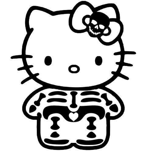 Hello Kitty Skull Coloring Pages : Best hk skulls images on pinterest hello kitty art