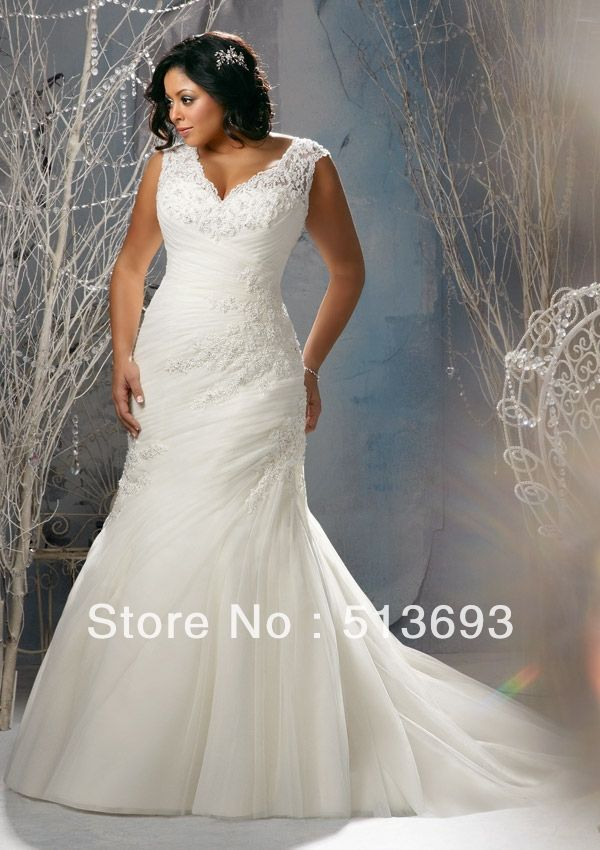 Popular Plus Size Wedding Dresses Julitta Style Beaded Venice Lace Appliques on Net
