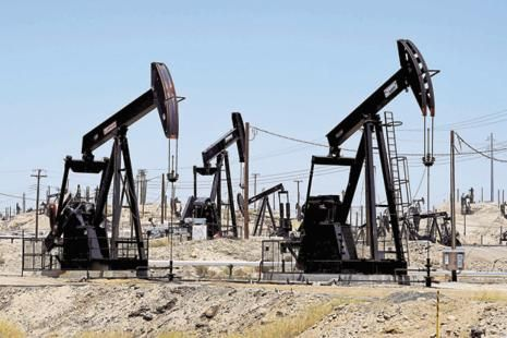 West Texas Intermediate for March delivery gained $2.66, or 9%, to $32.19 a barrel on the New York Mercantile Exchange. Photo: AFP