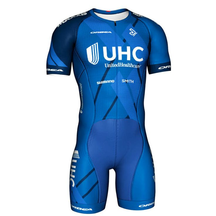 Jakroo UHC Professional Team Uniform Men's Short Sleeve Cycling Jersey Jumpsuit Italian MITI Breathable Fabric Cycling Clothing