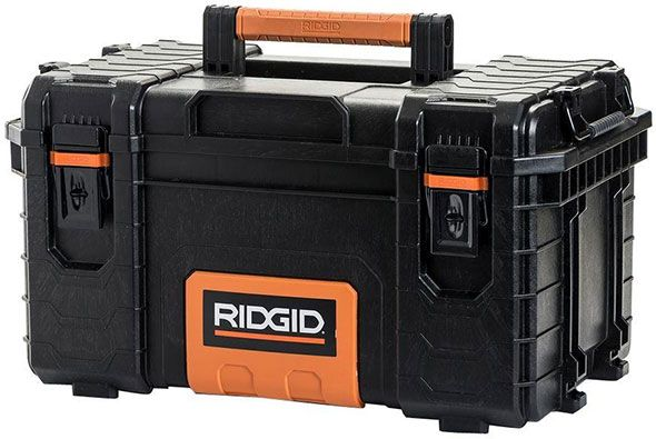 Ridgid has come out with a new line of stackable tool boxes, and also a new cylindrical tube-shaped tool box as well.
