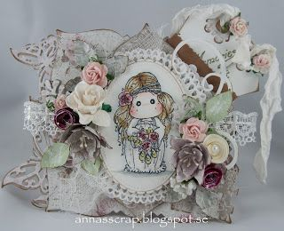 Annas scrap: Tilda with Peony Headband DT Paradise of Stamps