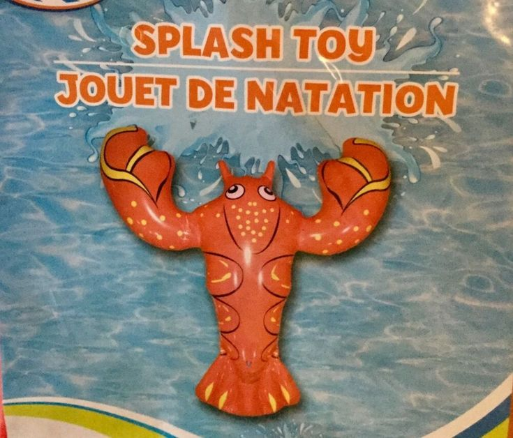 """Details about 36"""" RED LOBSTER Pool Toy Float Inflatable Age 6+ New"""