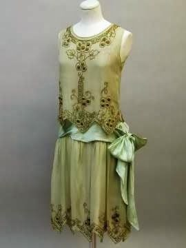 Gorgeous embroidered lowered waist dress from the The Girl with the Star-Spangled Heart: 1920s